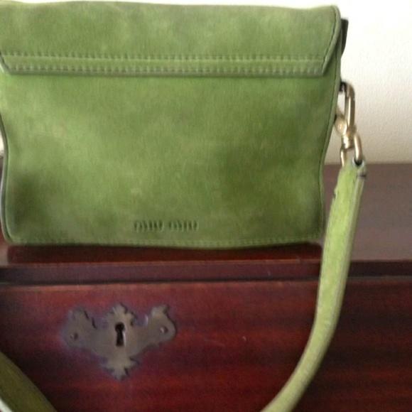 0559cdb17 Miu Miu Bags   Authentic Prada Suede Handbag   Poshmark